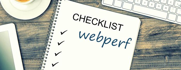 check-list webperf