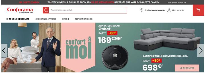 Homepage Conforama - Etude de cas webperf
